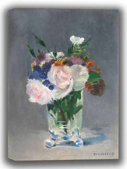 Manet, Edouard: Flowers in a Crystal Vase. Fine Art Canvas. Sizes: A4/A3/A2/A1 (003950)